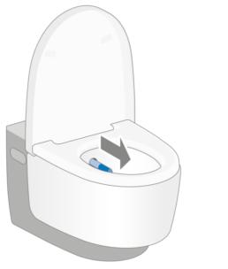 Geberit AquaClean douchewc - 2. Het douchen starten - Touchfree Toilet