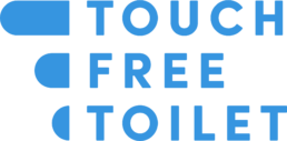 Touchfree Toilet - Logo blauw