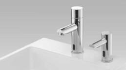 Touchfree kraan en zeepdispenser - Handen wassen - Touchfree toilet